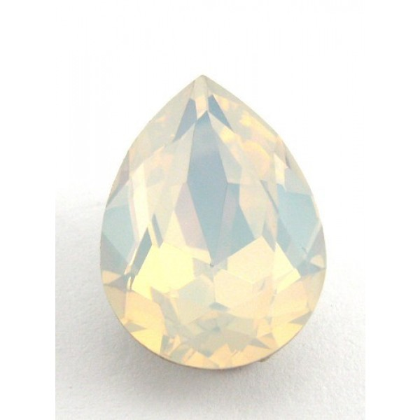 18x13mm 4320 Swarovski Pear White Opal
