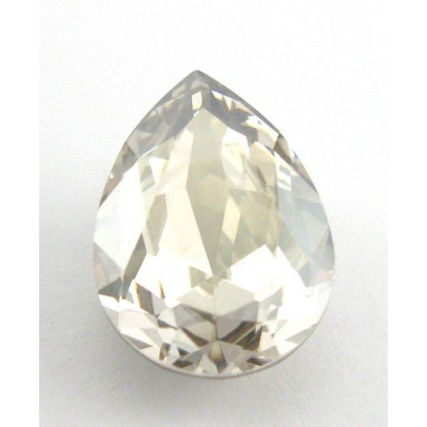 18x13mm 4320 Swarovski Pear Silver Shade
