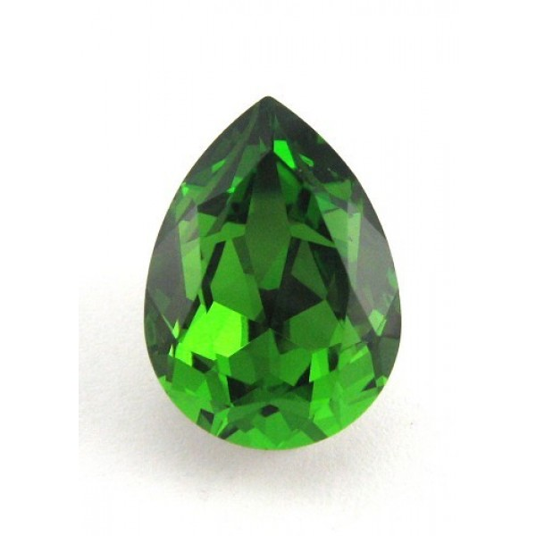 18x13mm 4320 Swarovski Pear Fern Green