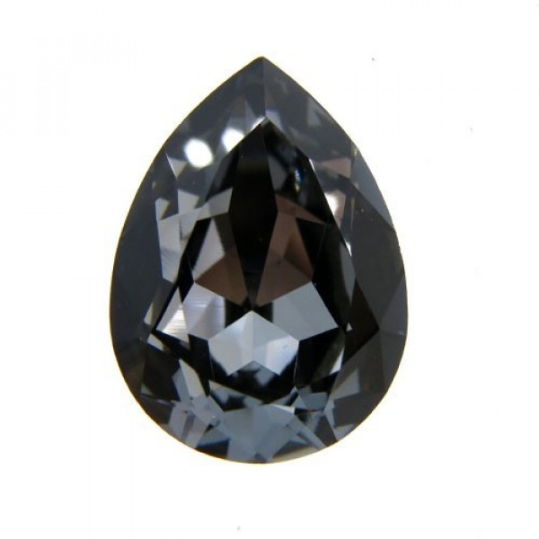 18x13mm 4320 Swarovski Pear Silver Night