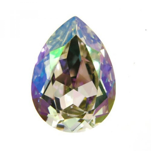 18x13mm 4320 Swarovski Pear Luminous Green