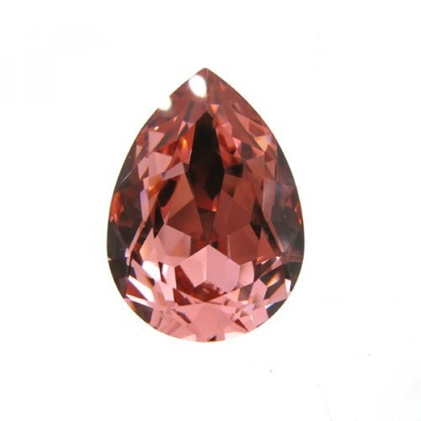 18x13mm 4320 Swarovski Pear Rose Peach