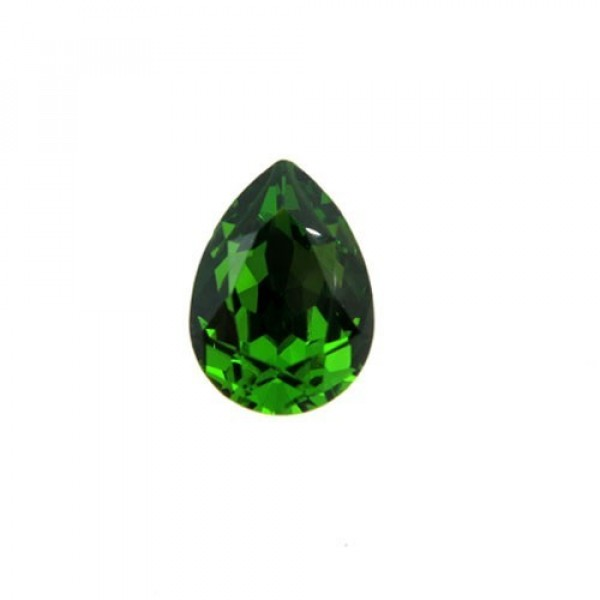 14x10mm 4320 Swarovski Pear Fern Green
