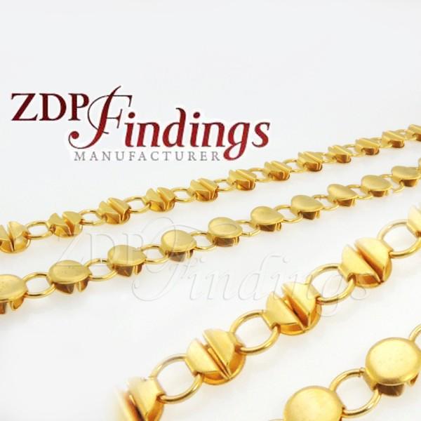 8mm Ornament Gold Chain