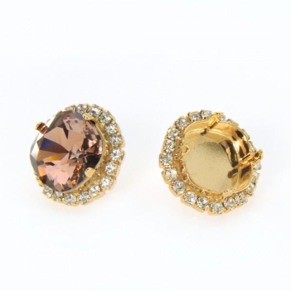 12mm 4470 Swarovski Post Rhinestone Earrings