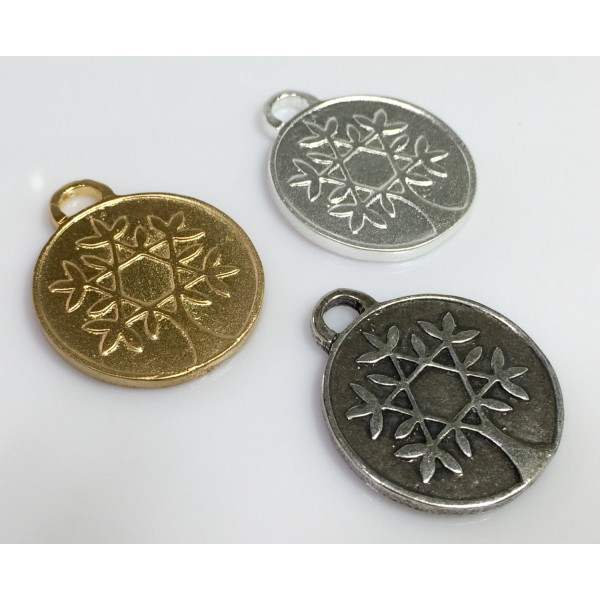30x25mm Quality Cast  Coin Pendant