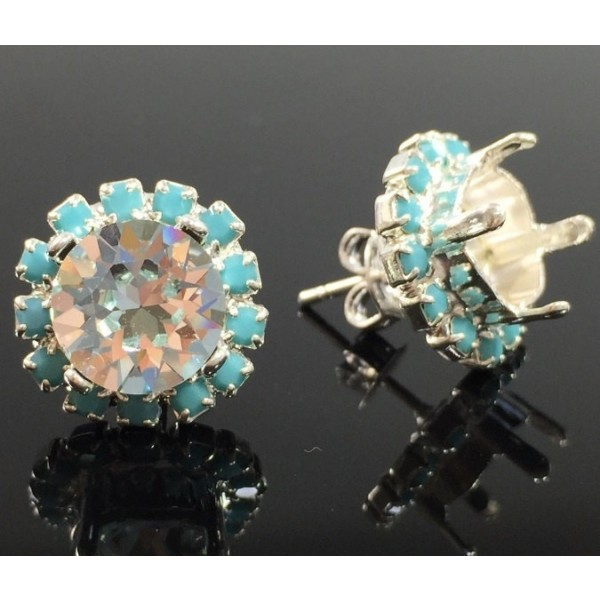 ss39 1028, 1088 Swarovski Post Rhinestone Earrings, Choose your options