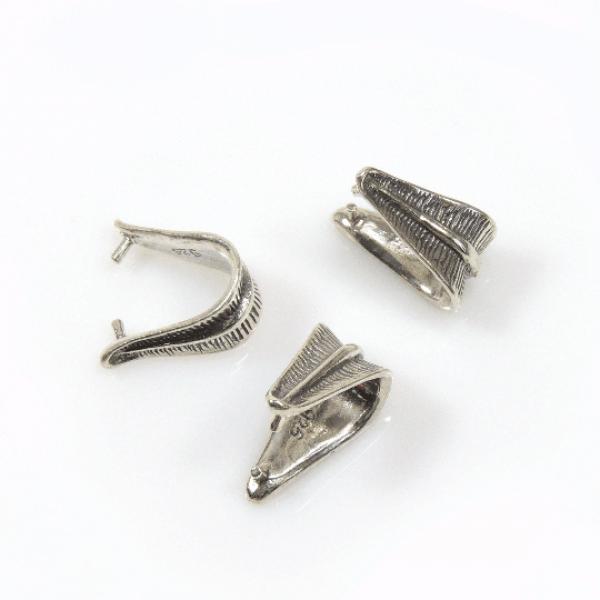 Sterling Silver 925 Pinch Bail 15mm
