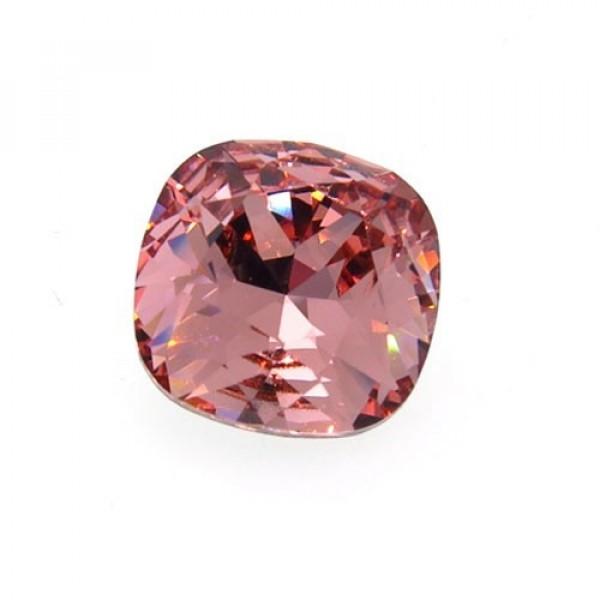 12mm 4470 Swarovski Rose Peach Square Cushion Cut Crystal