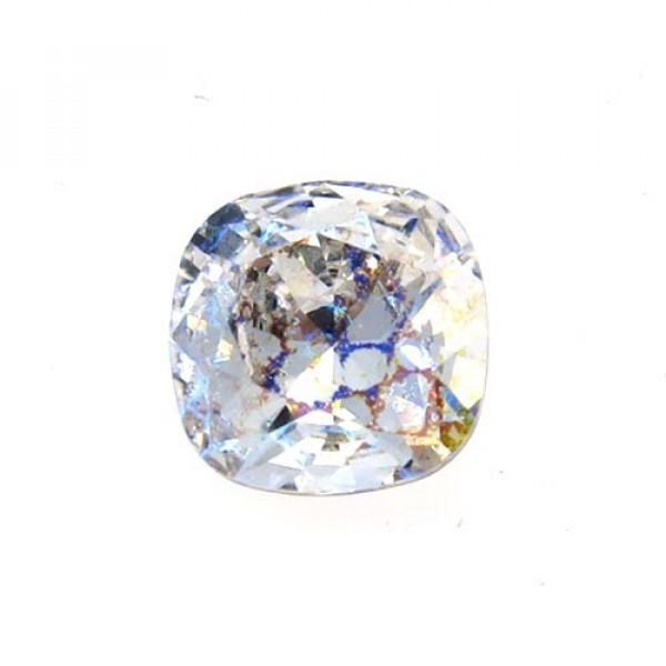 12mm 4470 Swarovski White Patina Square Cushion Cut Crystal