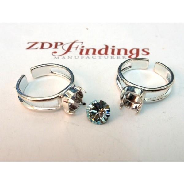 ss34 1028/1088 Ring Base, Shiny Silver