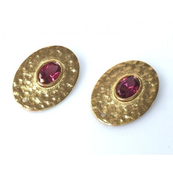 20x14mm d Shiny Gold Discs