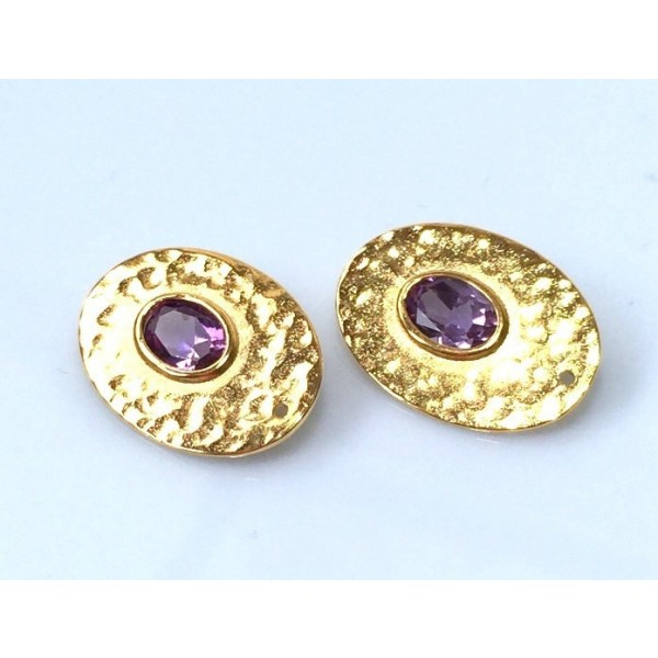 20x14mm Oval Shiny Gold Discs
