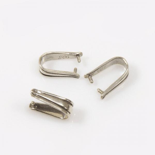 Sterling Silver 925 Pinch Bail 13mm