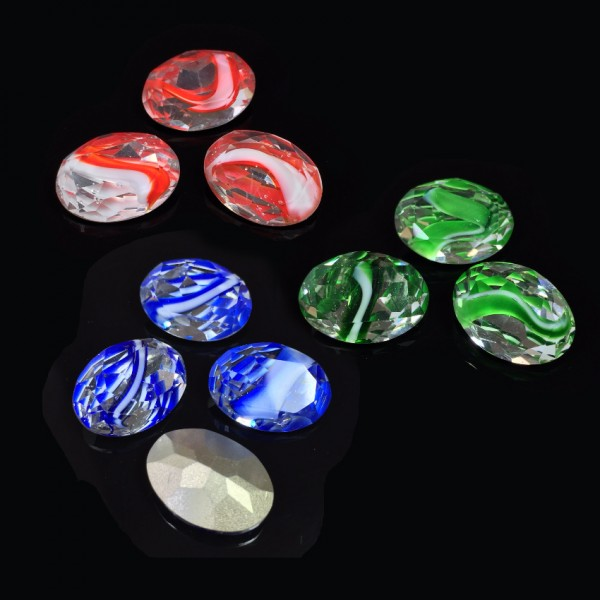 Oval 18X13mm Czech Crystals fit Swarovski 4120