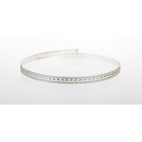 12 Inch Gallery Wire 935 Sterling Silver , 6x0.7mm