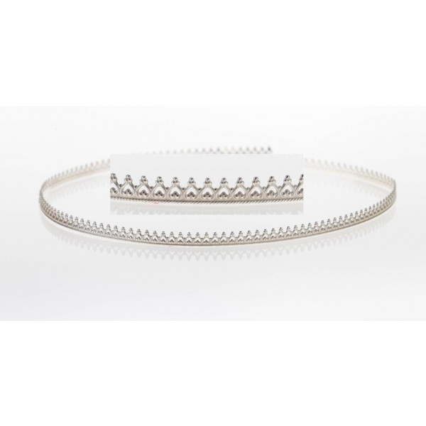 12 Inch Gallery Wire 935 Sterling Silver , 3.9x0.55mm