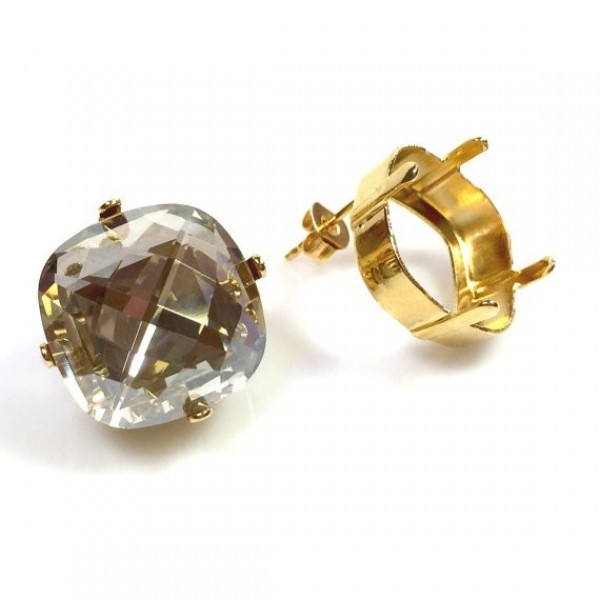 16mm 4461 Swarovski Post Earrings