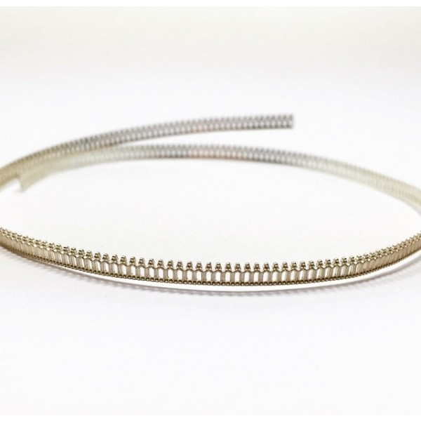 12 Inch Gallery Wire 935 Sterling Silver , 3.4x0.7mm