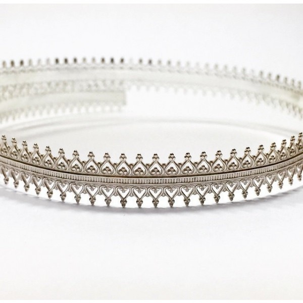12 Inch Gallery Wire 935 Sterling Silver , 10x1mm