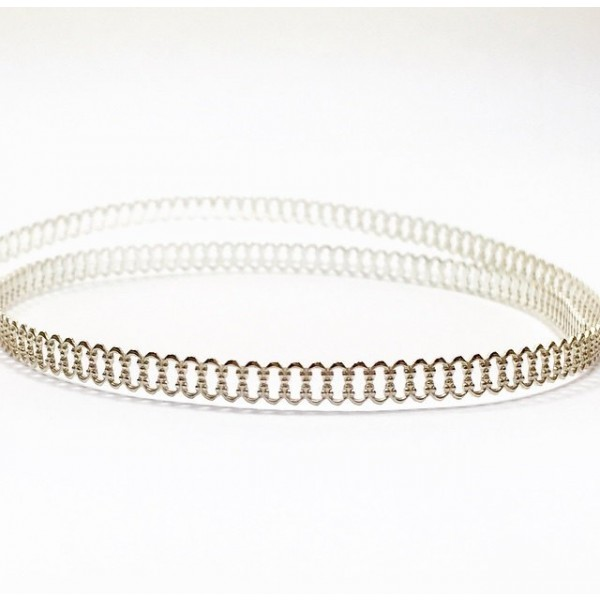 12 Inch Gallery Wire 935 Sterling Silver , 4x0.7mm