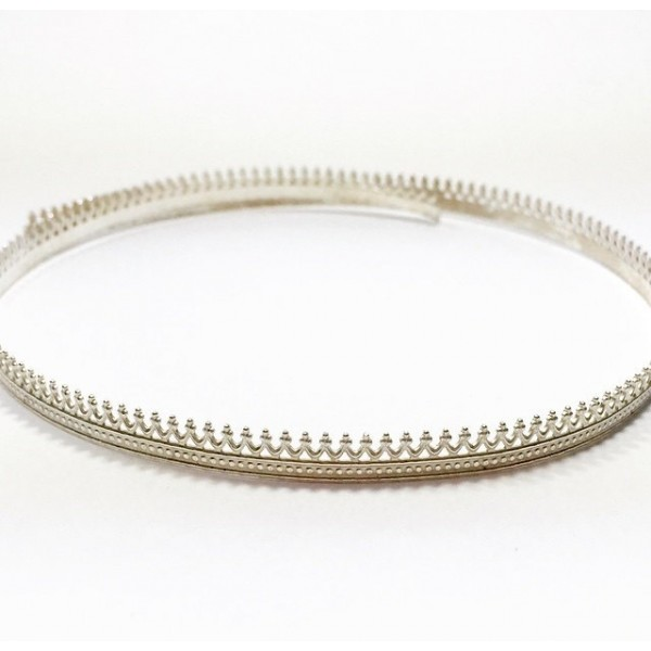 12 Inch Gallery Wire 935 Sterling Silver , 5.2x0.7mm