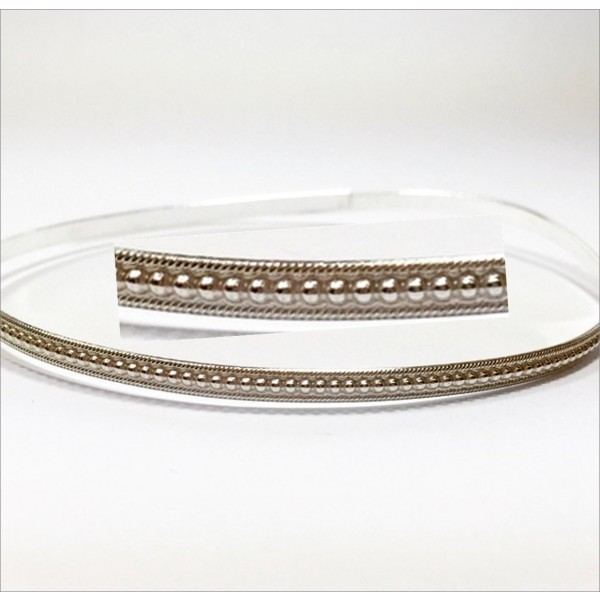 12 Inch Gallery Wire 935 Sterling Silver , 3.5x2mm