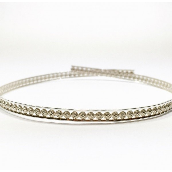 12 Inch Gallery Wire 935 Sterling Silver , 5x1.6mm