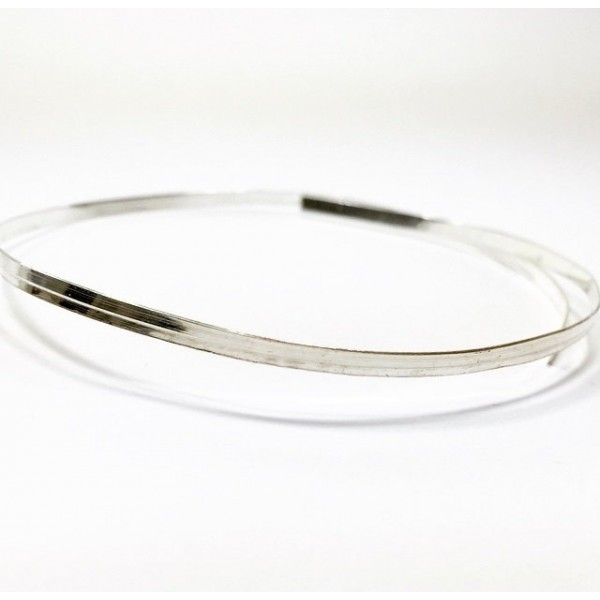 12 Inch Gallery Wire 935 Sterling Silver , 3x0.6mm