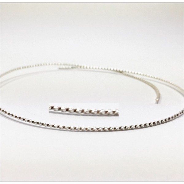 12 Inch Gallery Wire 935 Sterling Silver , 1.2x1.2mm