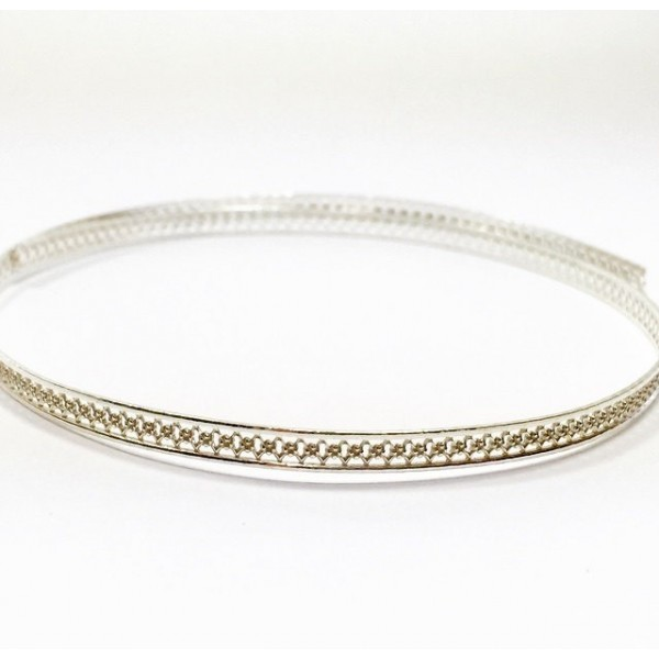 12 Inch Gallery Wire 935 Sterling Silver , 3.7x0.8mm