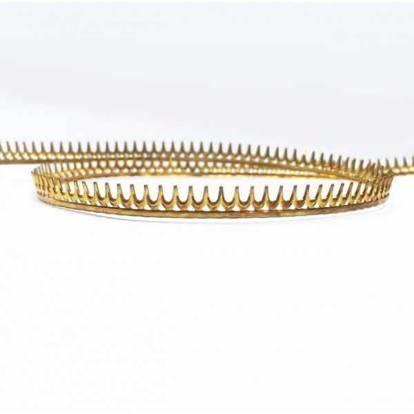 24 Inch Gallery Wire Shiny Brass , 5.5x0.7mm