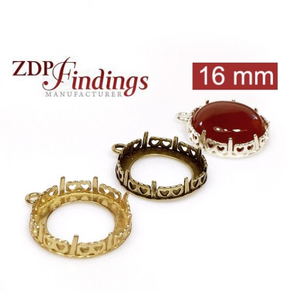 Round 16mm Bezel Setting Fit Swarovski 1122
