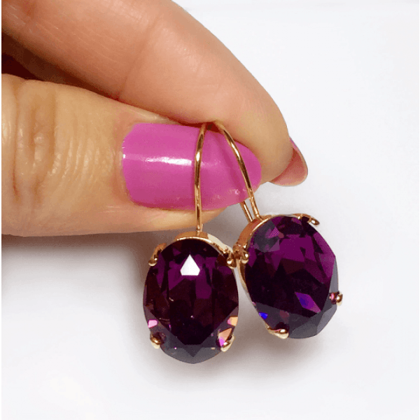 Oval 18x13mm Kidney Wire Earrings Fit Swarovski 4120