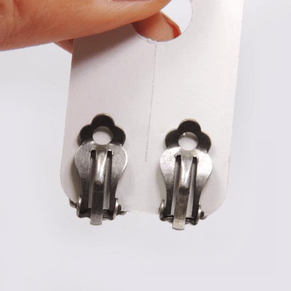 Clip on Earrings Square 12mm Settings fit Swarovski 4470