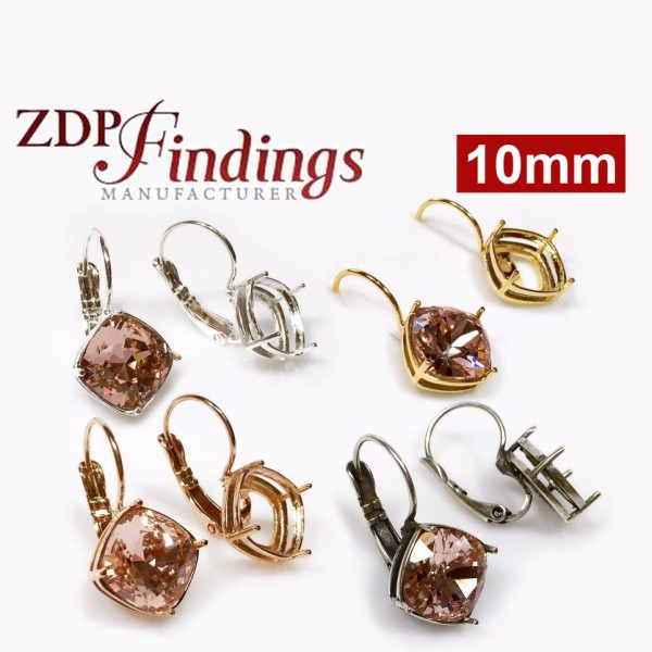 10mm Leverback Earring, Choose your finish.