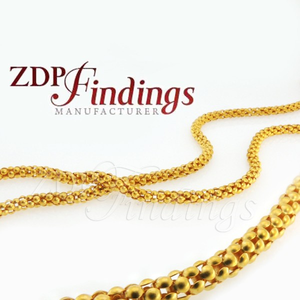 10mm Round Snake Chain, Ornament Gold Chain