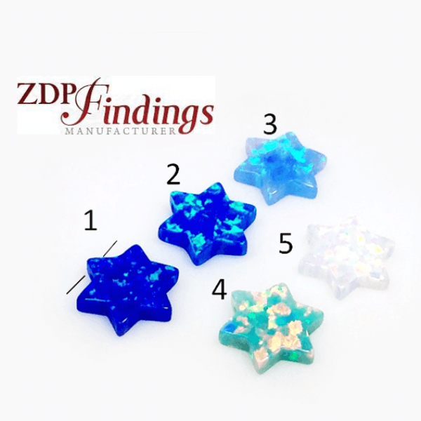 10mm Opal Star of David Bead Pendant Gem