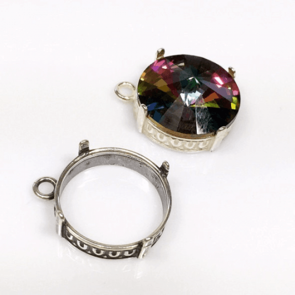 18mm Round 925 Sterling silver Bezel, choose your finish.