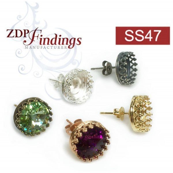 ss47 1122 Swarovski Post Earrings, Choose your options