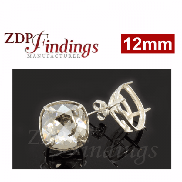12mm 4470 Swarovski Post Earrings