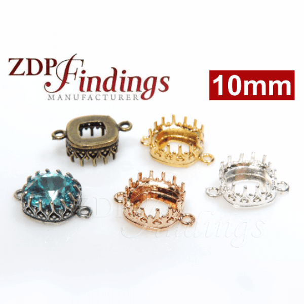 10mm Crown Bezel Tray Setting Connector fit Swarovski 4470