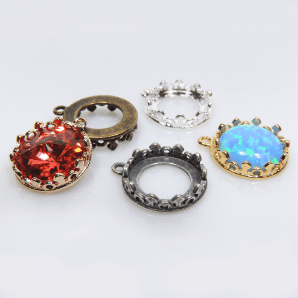 Round 12mm Crown Bezel Cups For Setting fit Swarovski 1122