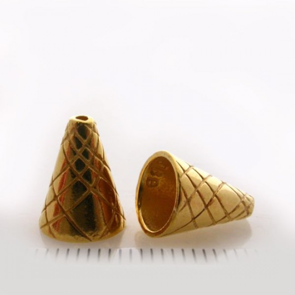 11.6x8mm Shiny Gold Cones