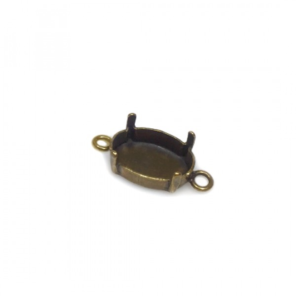 4120 Oval 14x10mm Connector, Antique Brass