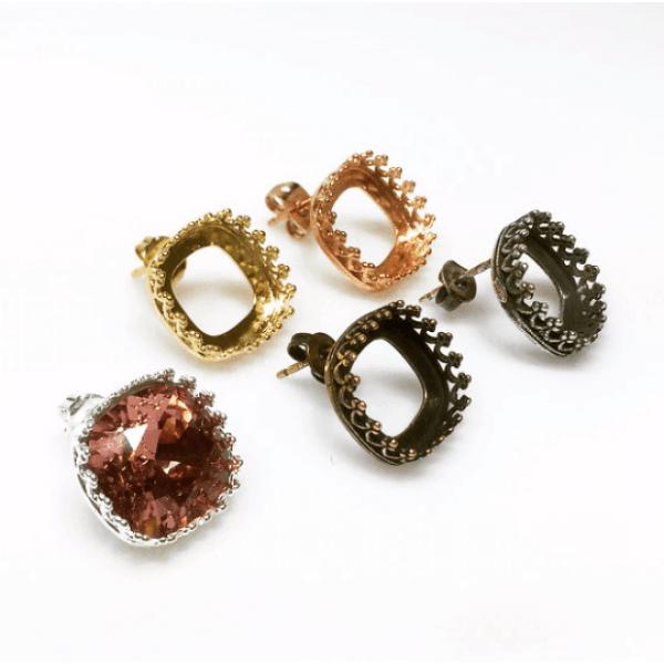 12mm 4470 Swarovski Post Earrings, Choose your options