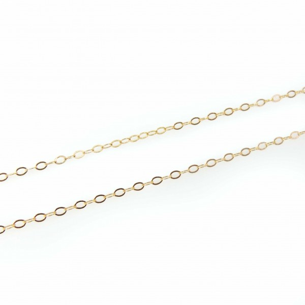 1.3mm 14k Gold Filled Flat Cable Chain