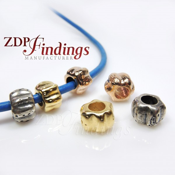 7x10mm Spacer Big Tube Beads, hole size 5mm