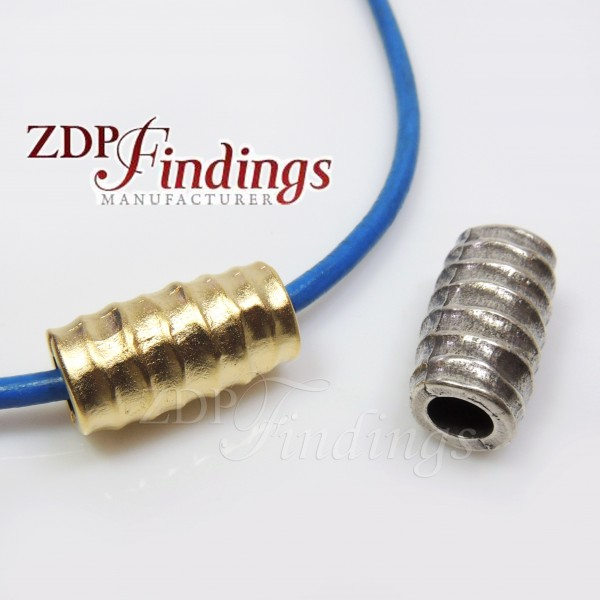 22x12mm Spacer Big Tube Beads, hole size 6.5mm