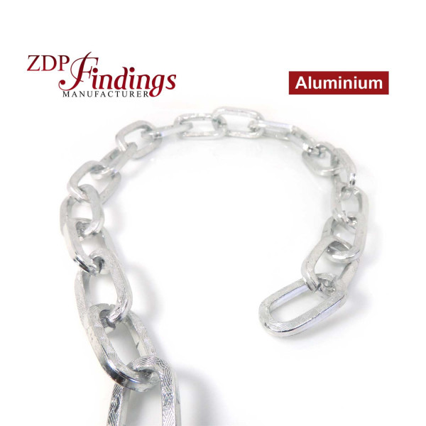 3.28FT (1 MT) Huge Silver Plated Chain 30x25mm Link